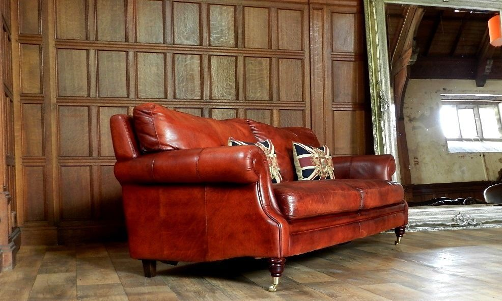 chestnut leather sofa with kensington leather sofa antiqued