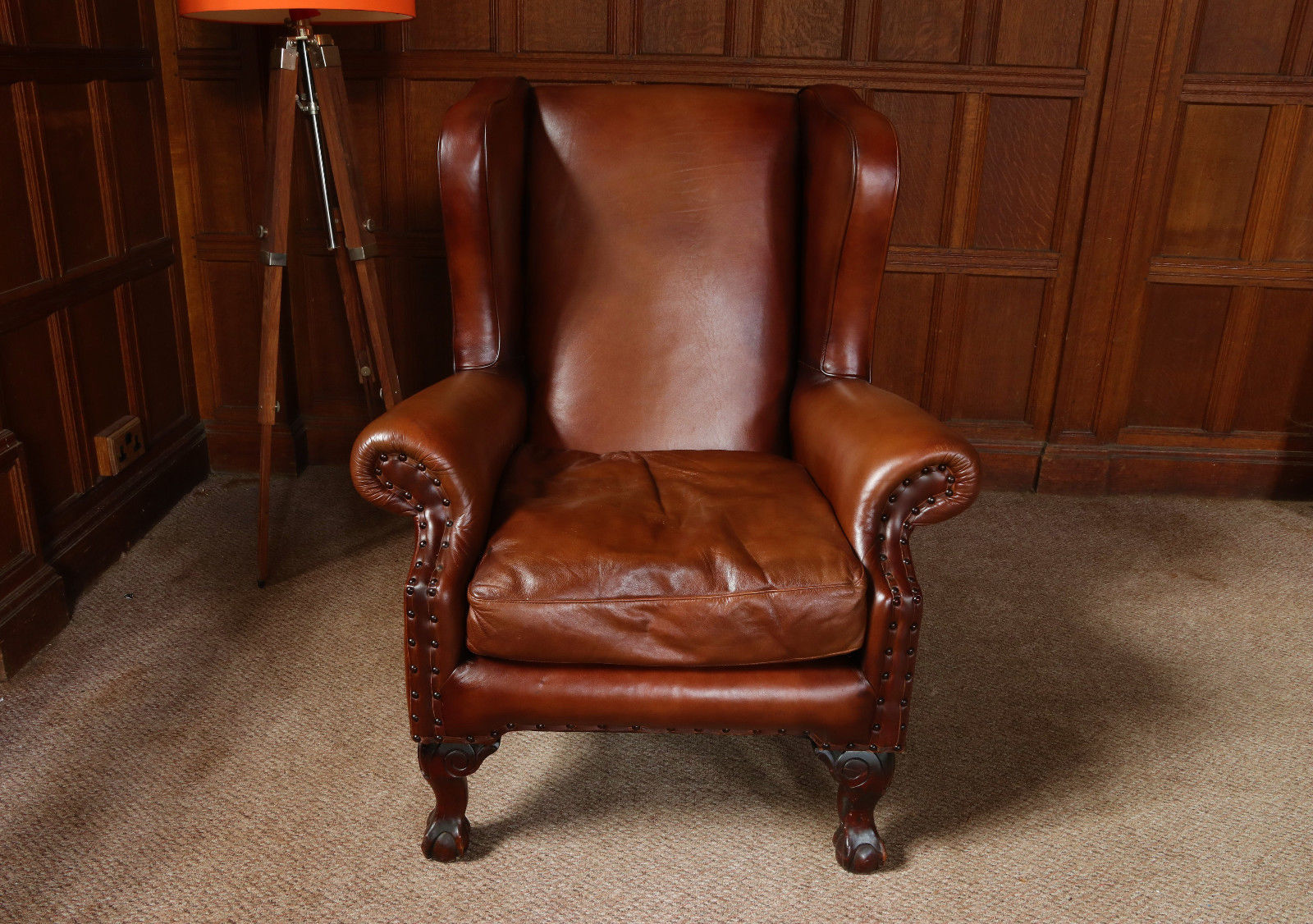 F50 1154 Tetrad Compton John Lewis Antique Brown Leather