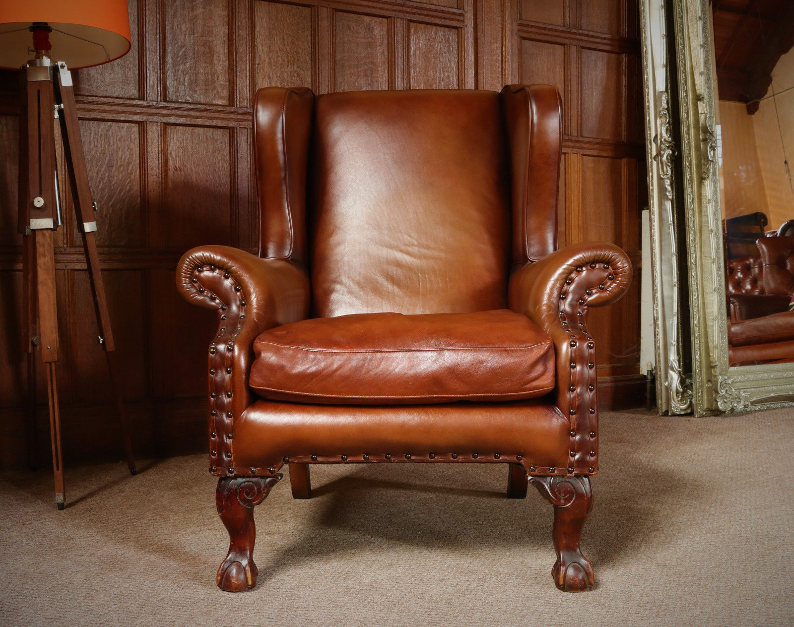 F50 1155 Tetrad Compton John Lewis Antique Brown Leather