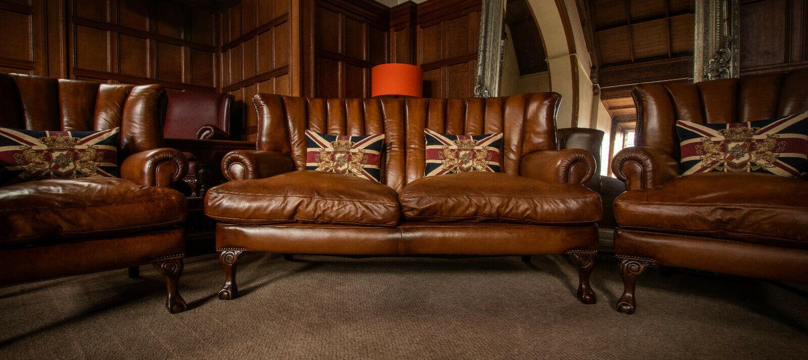 F50 1235 Tetrad Blake John Lewis Tan Brown Leather Suite 2